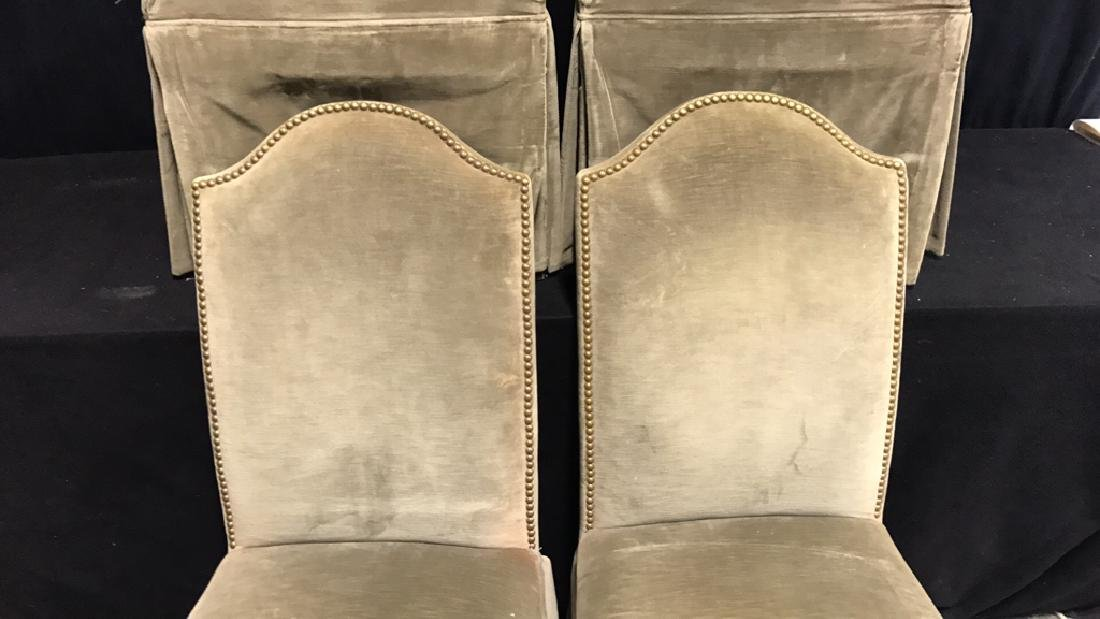 Set 4 Upholstered Dining Chairs - 3