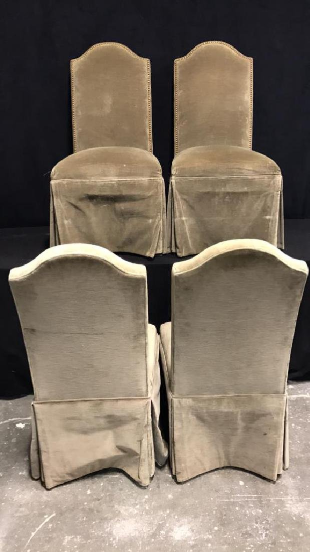 Set 4 Upholstered Dining Chairs - 6