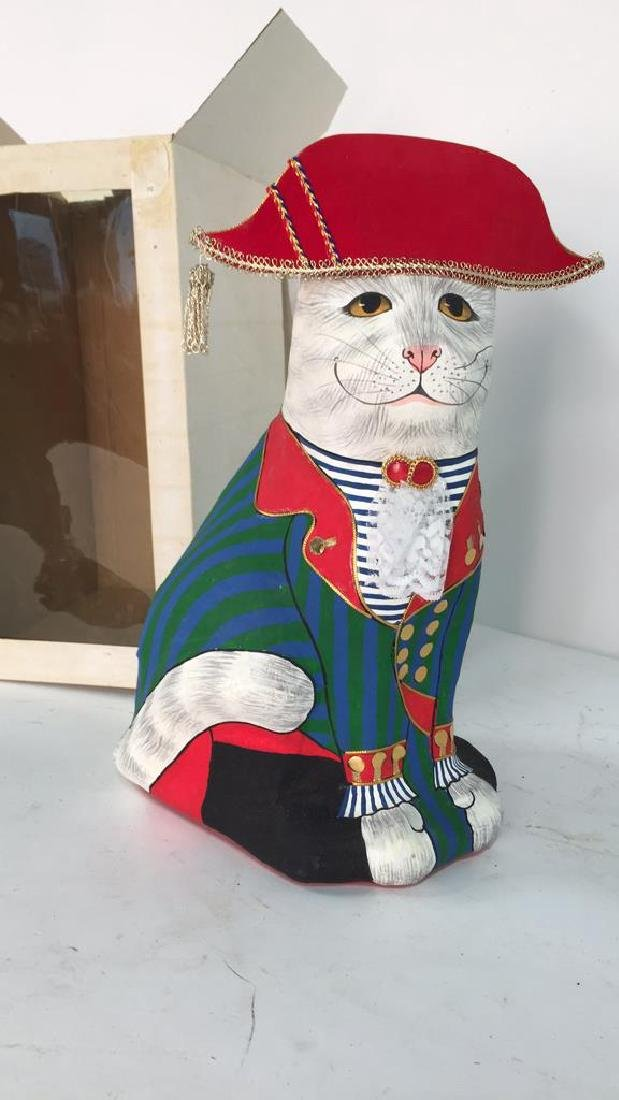 Hand Painted In Thailand Paper Mache Cat - 3