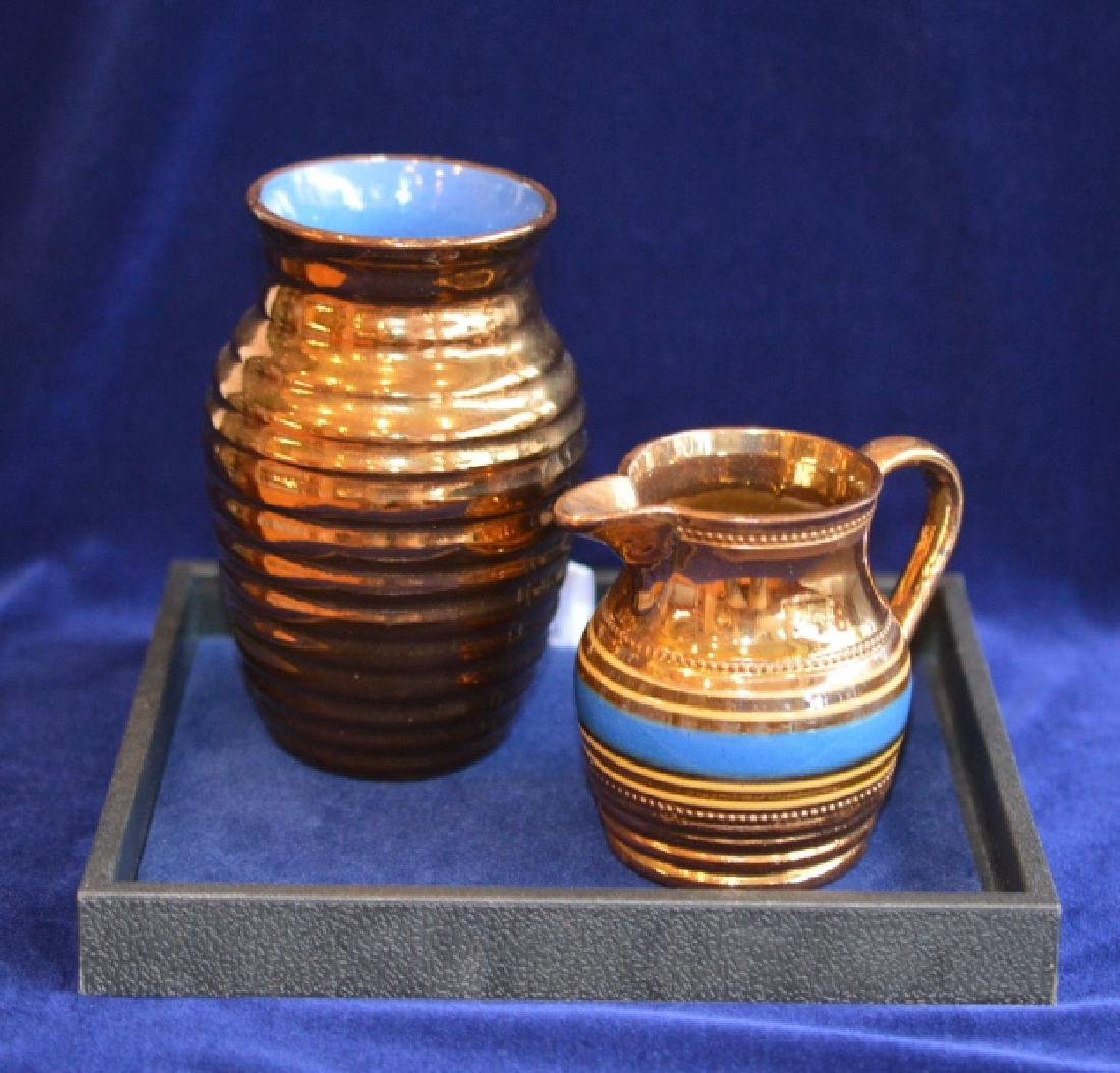 Creigiau Pottery Copper Lusterware