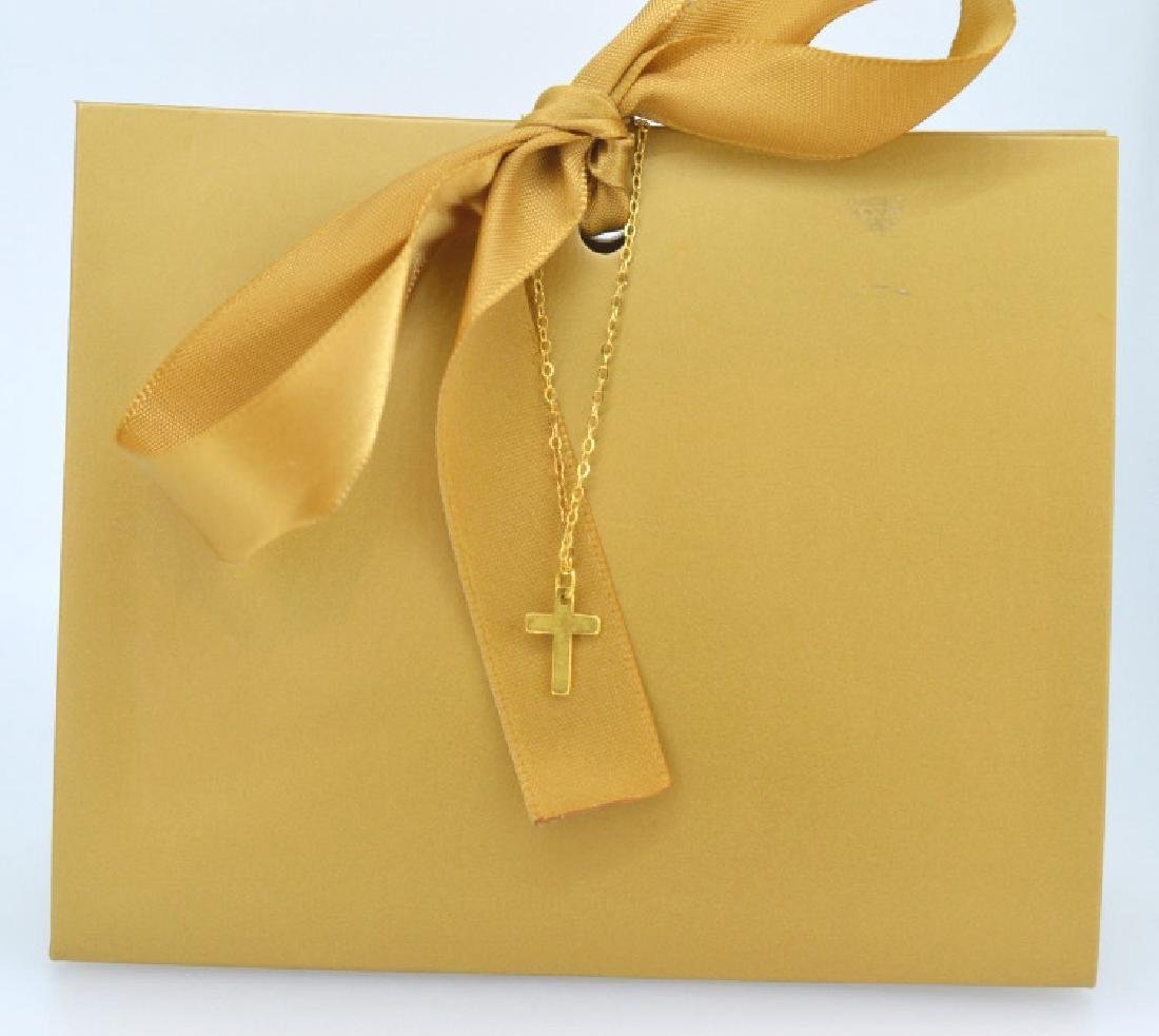 Petite Vermeil Cross Necklace
