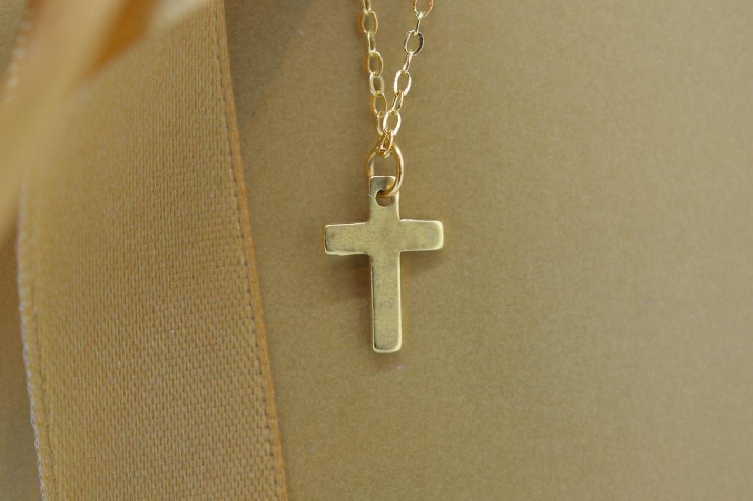 Petite Vermeil Cross Necklace - 2