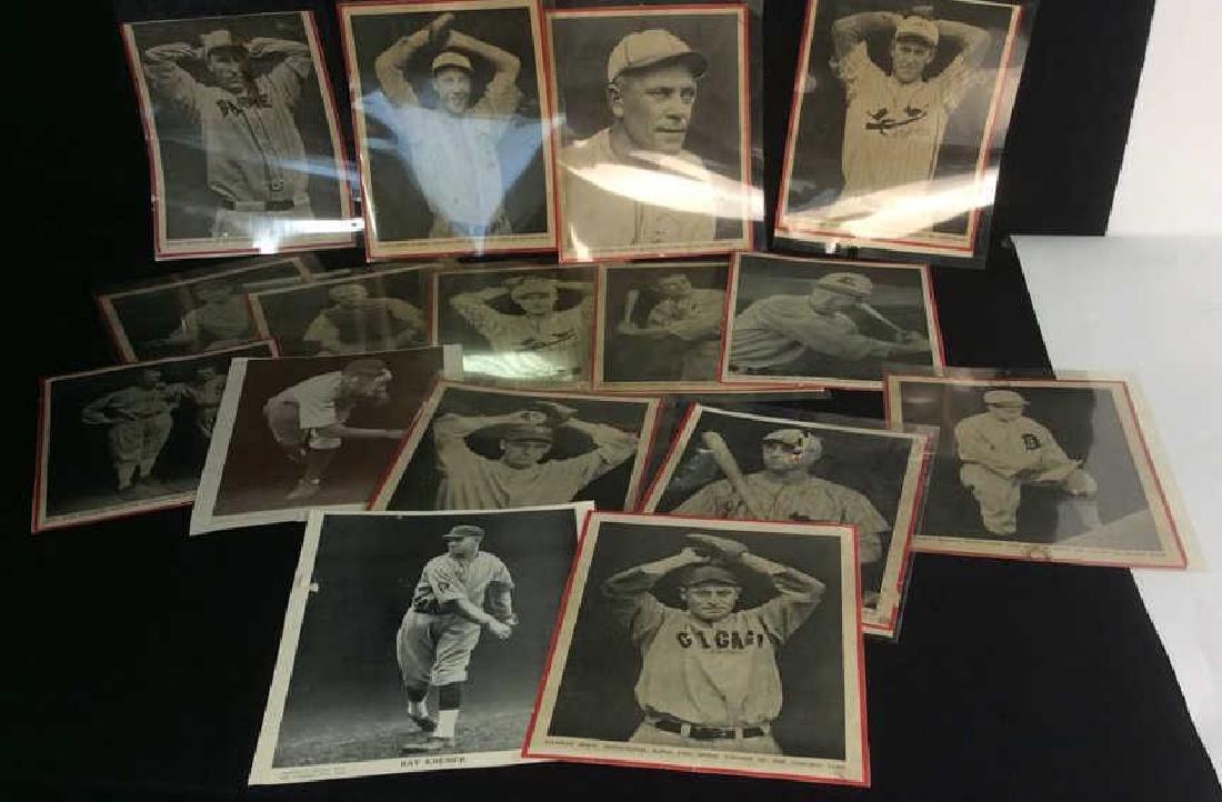 Collection Vintage Baseball Magazine Photos