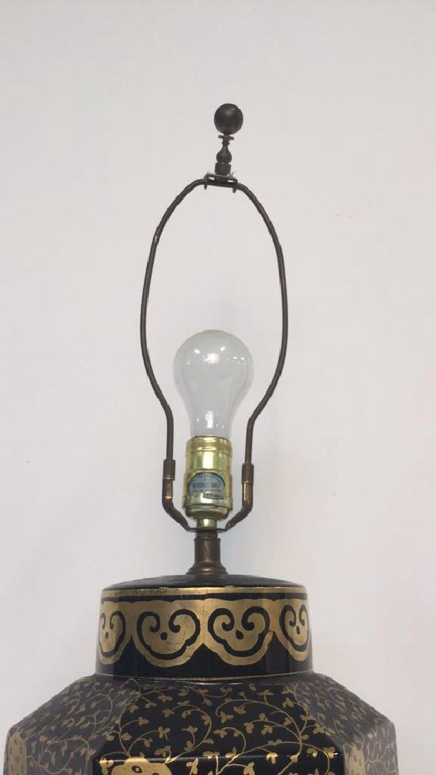 2 Gold Painted Vintage Lamps - 5