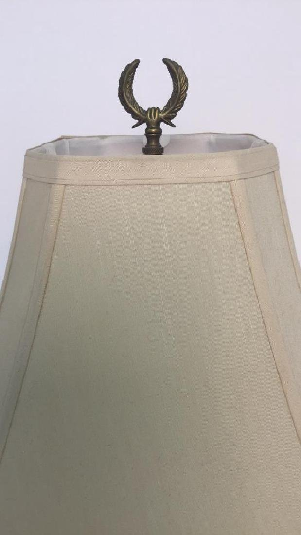 2 Gold Painted Vintage Lamps - 8