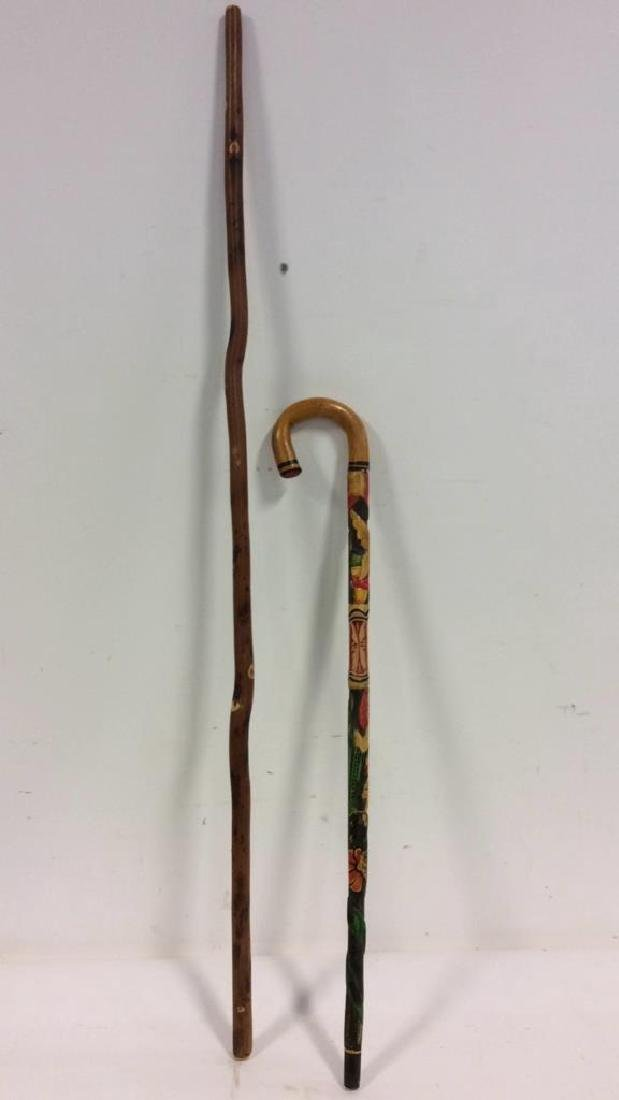 Wooden Walking Stick and Cane - 9