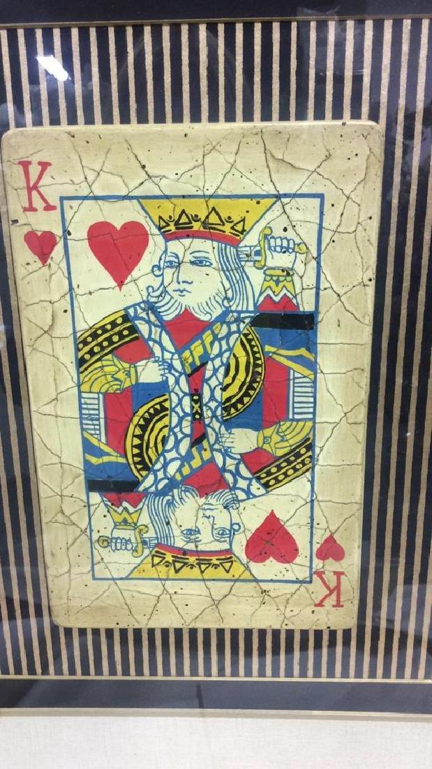 King Playing Card Mixed Media Artwork - 2