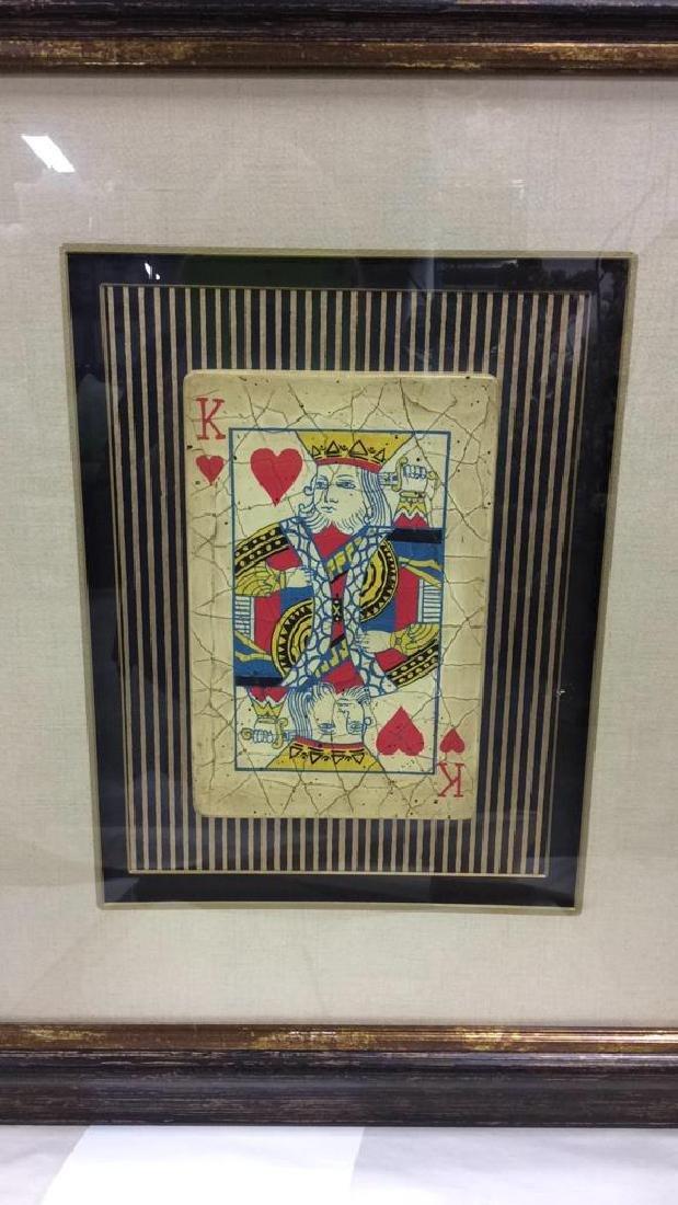 King Playing Card Mixed Media Artwork - 3