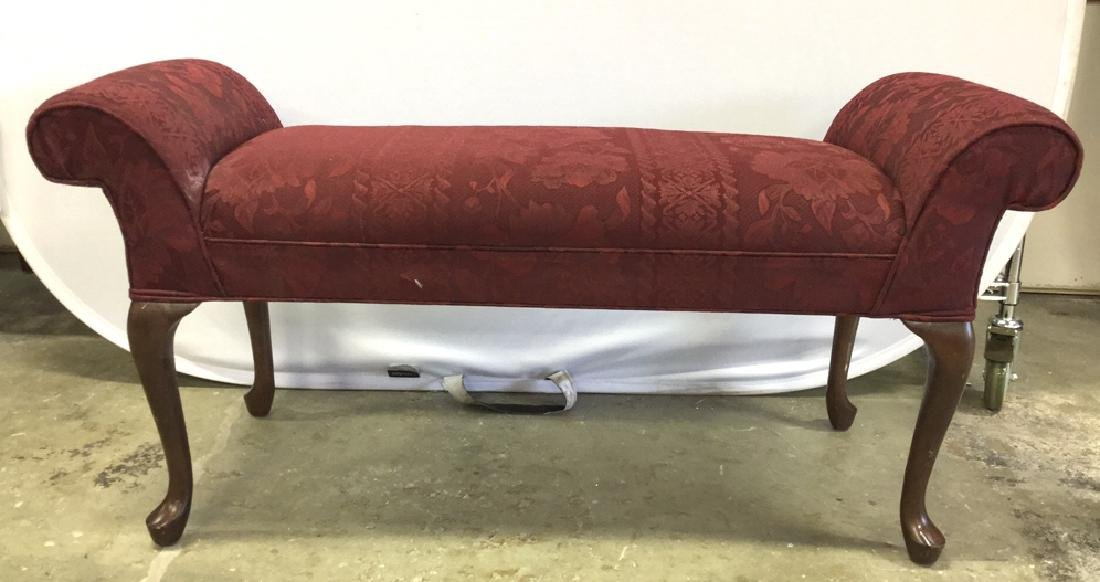Scroll Arm Upholstered Bench