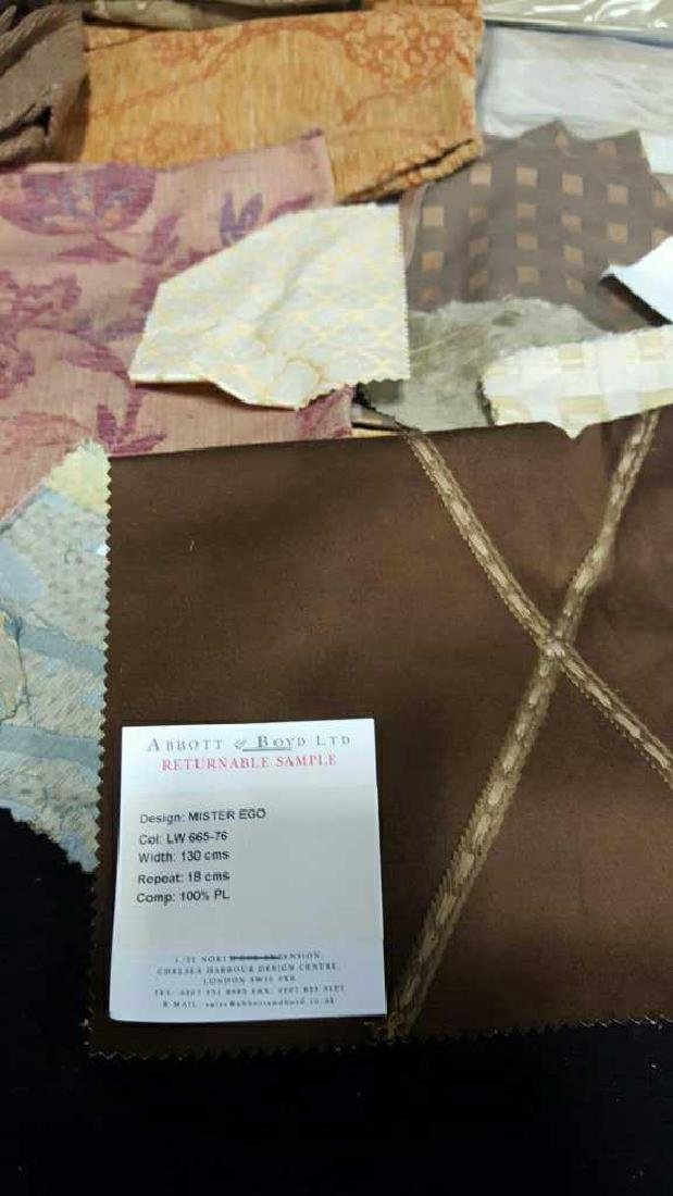 Group Lot of Designer Sample Fabric - 2