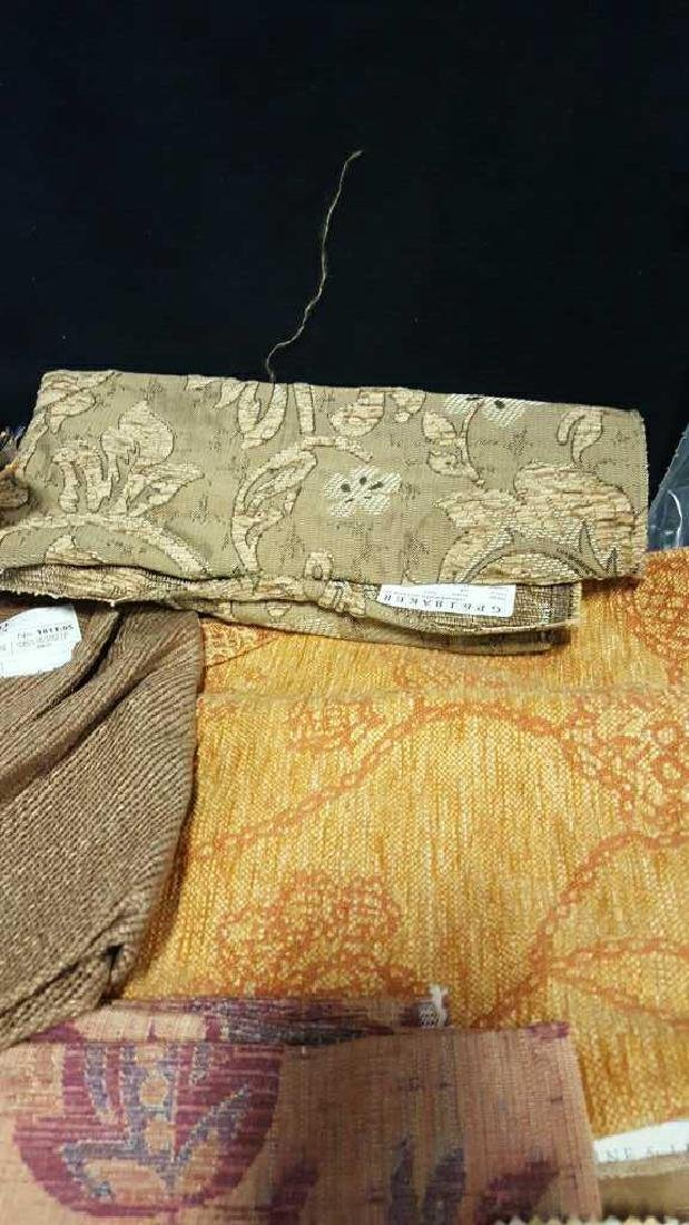 Group Lot of Designer Sample Fabric - 5