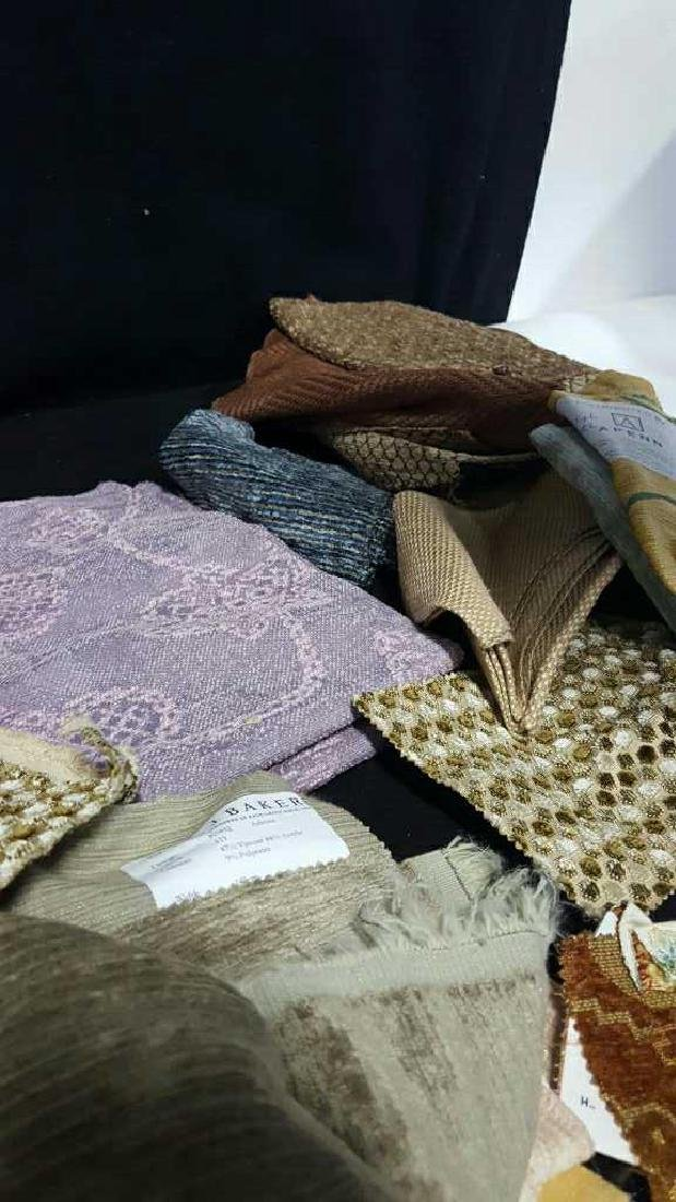 Group Lot of Designer Sample Fabric - 6