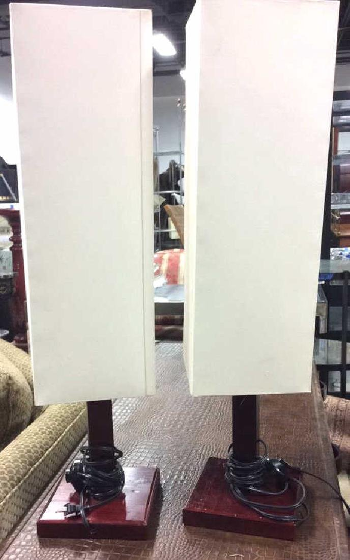 Pair Mid Century Style Mod Lamps