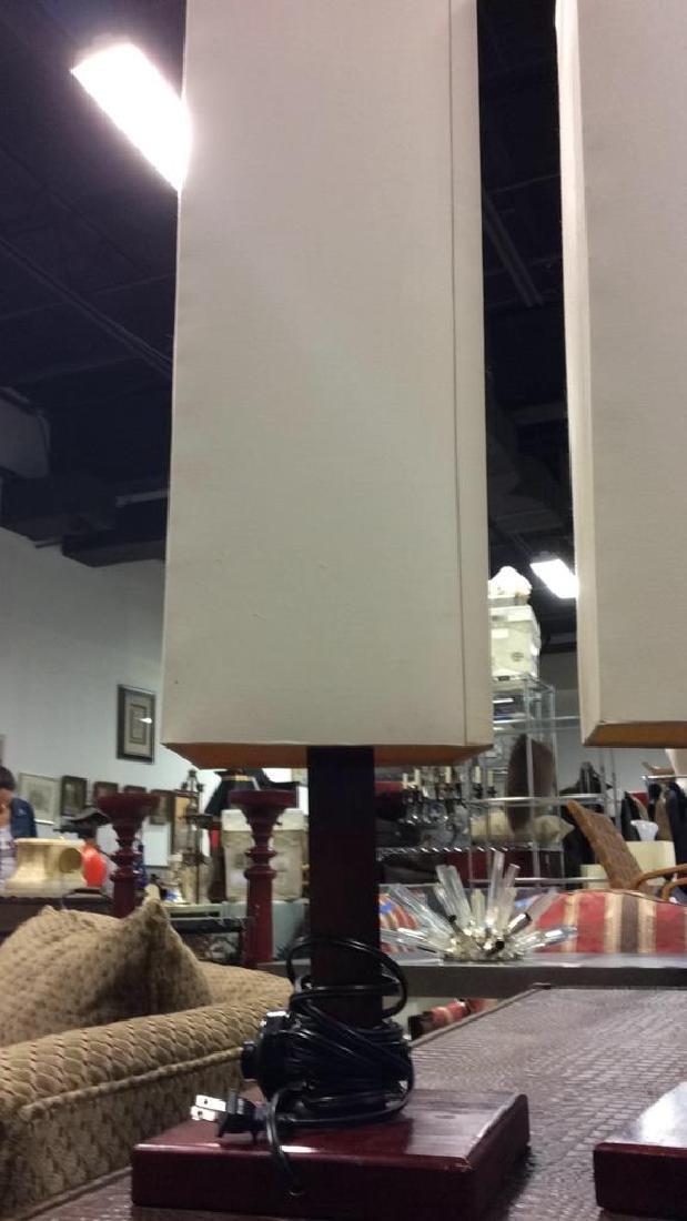 Pair Mid Century Style Mod Lamps - 4