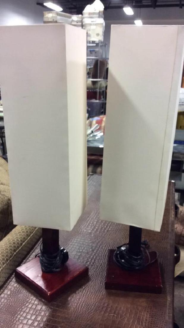 Pair Mid Century Style Mod Lamps - 5
