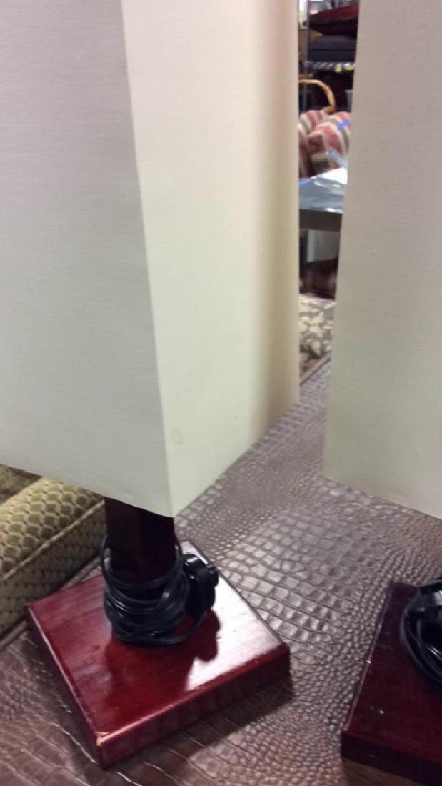 Pair Mid Century Style Mod Lamps - 6