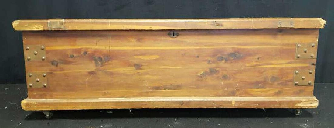 Antique Wood Chest - 2