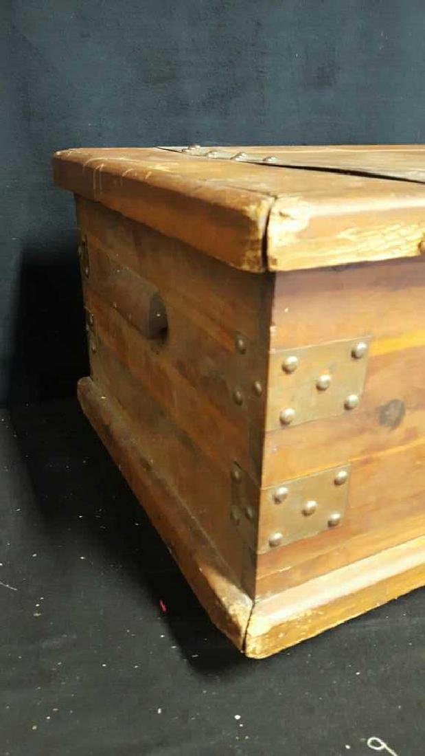 Antique Wood Chest - 5