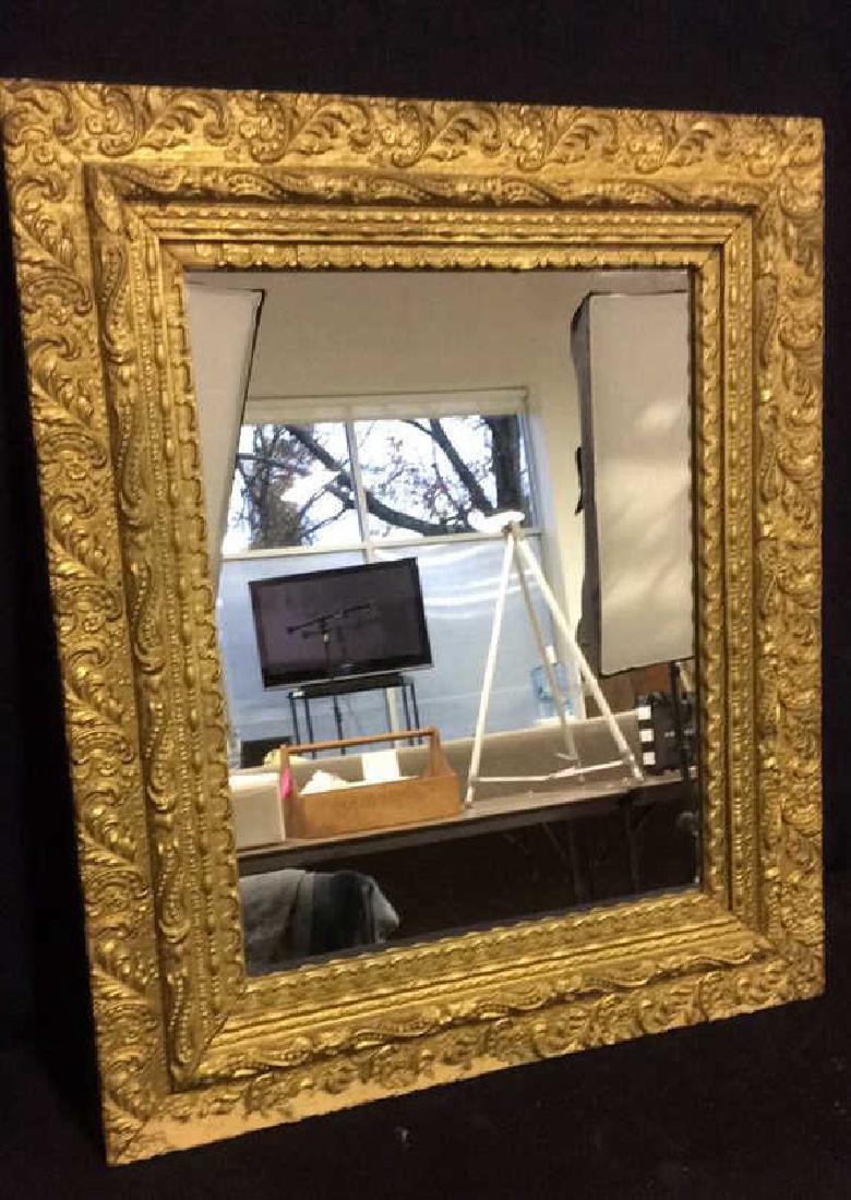 Vintage Decoratively Carved Mirror