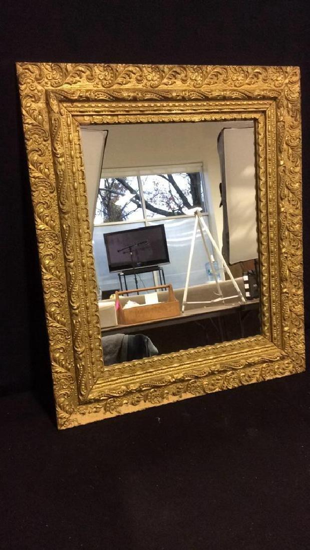 Vintage Decoratively Carved Mirror - 2