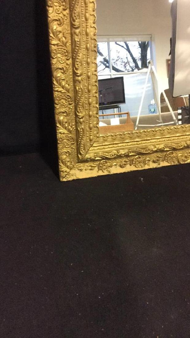Vintage Decoratively Carved Mirror - 4