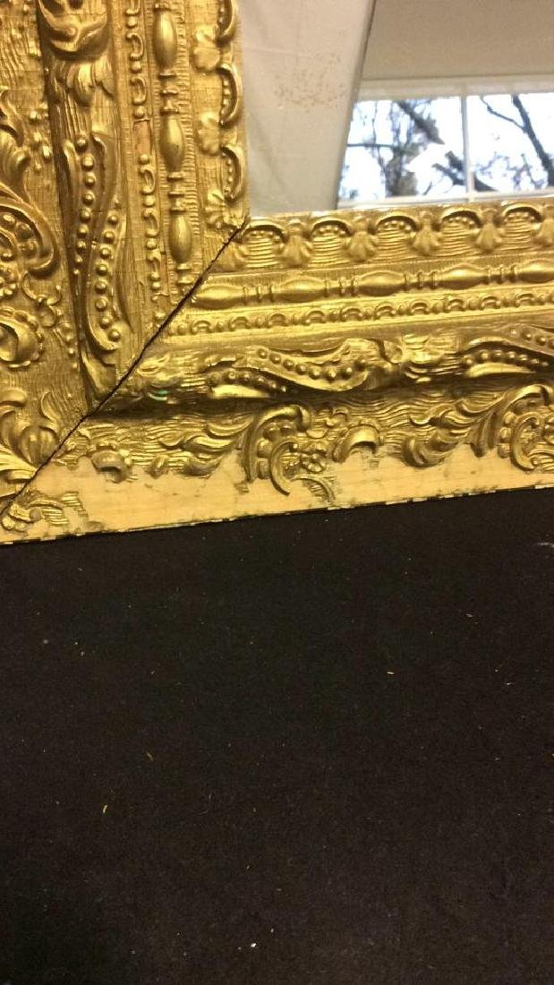 Vintage Decoratively Carved Mirror - 5