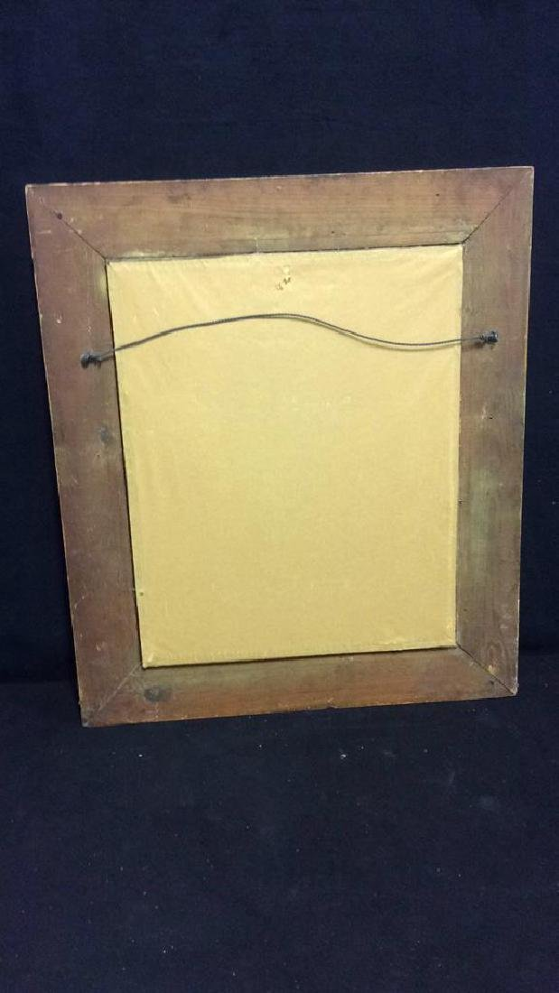Vintage Decoratively Carved Mirror - 8