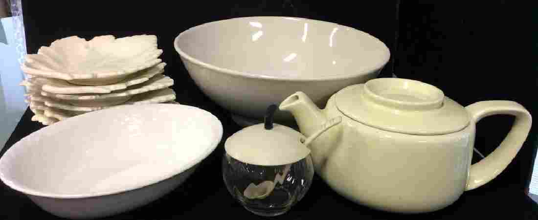 Vintage White Ceramic Group Lot