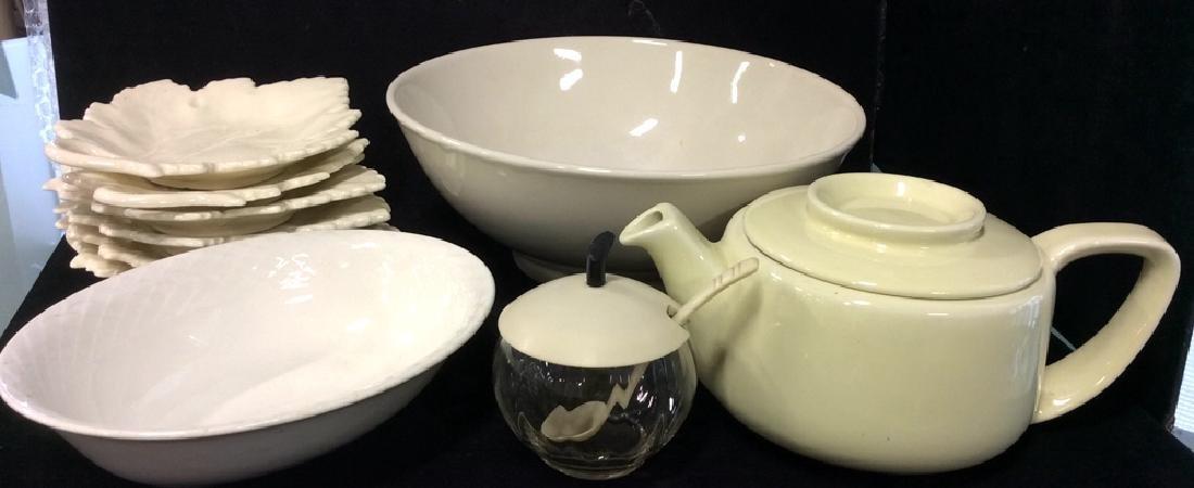 Vintage White Ceramic Group Lot