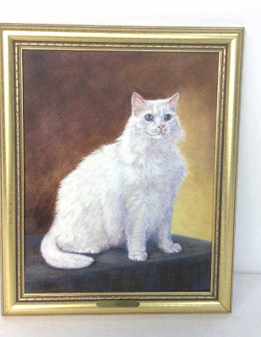 Cat Portrait Oil On Canvas