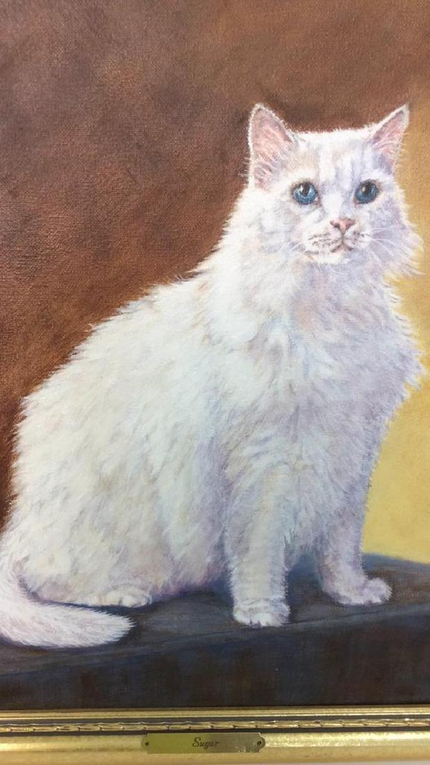 Cat Portrait Oil On Canvas - 2