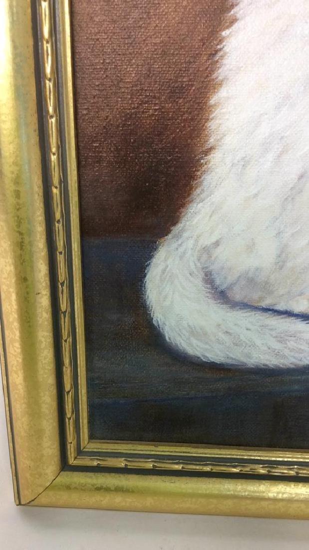 Cat Portrait Oil On Canvas - 3