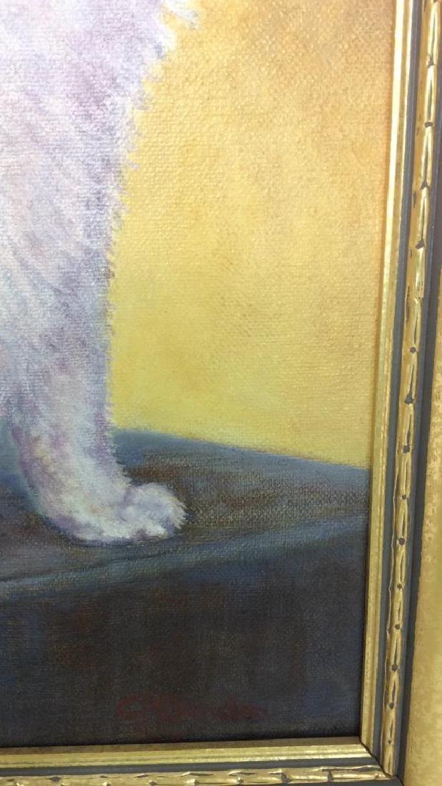Cat Portrait Oil On Canvas - 4