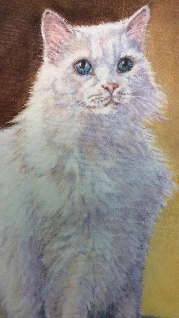 Cat Portrait Oil On Canvas - 8