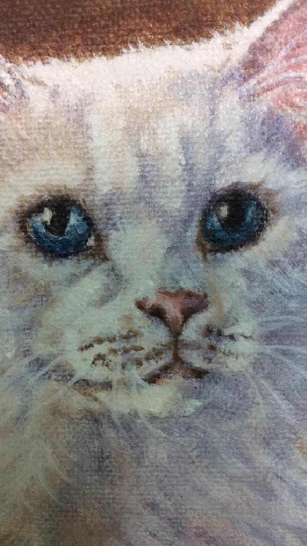 Cat Portrait Oil On Canvas - 9