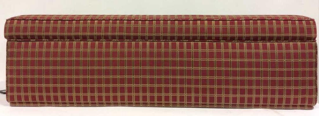 Plaid Upholstered Chest/Bench