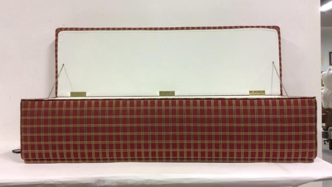 Plaid Upholstered Chest/Bench - 2
