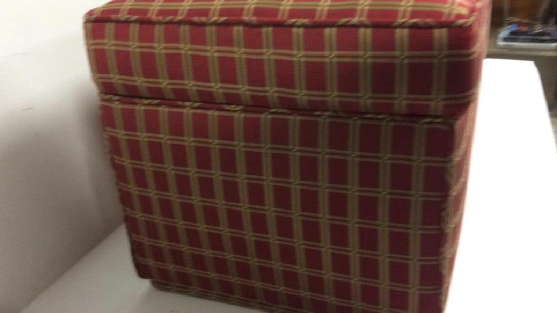 Plaid Upholstered Chest/Bench - 5