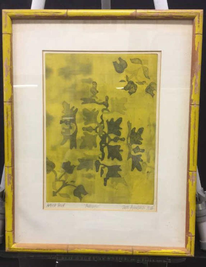 Autumn Leaves Double Matted Framed Artwork