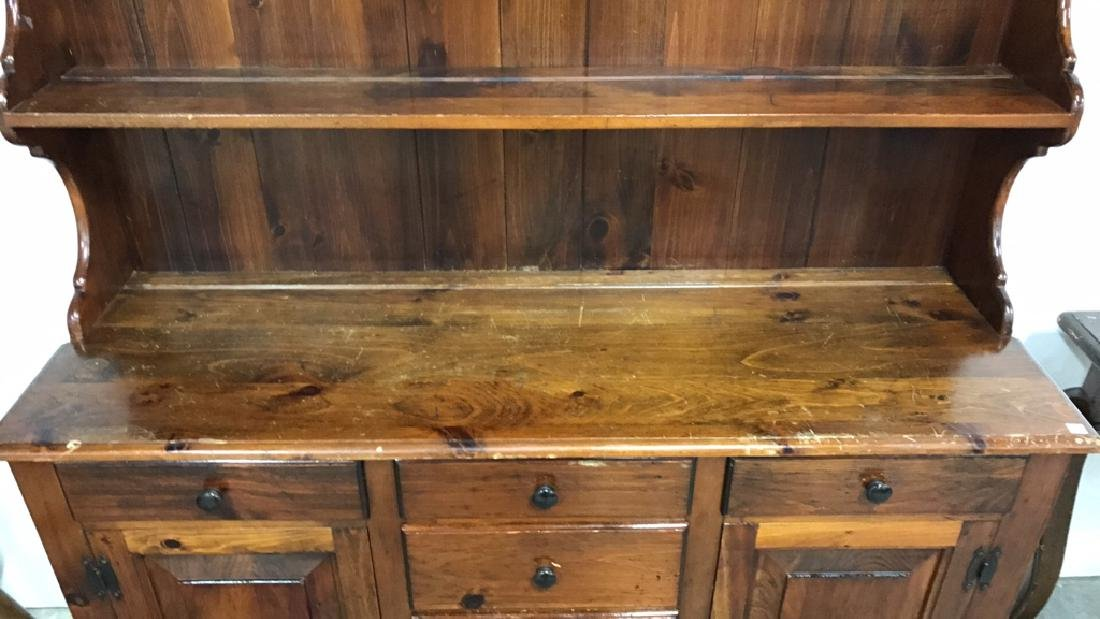 Vintage Style Wood Display Chest - 4
