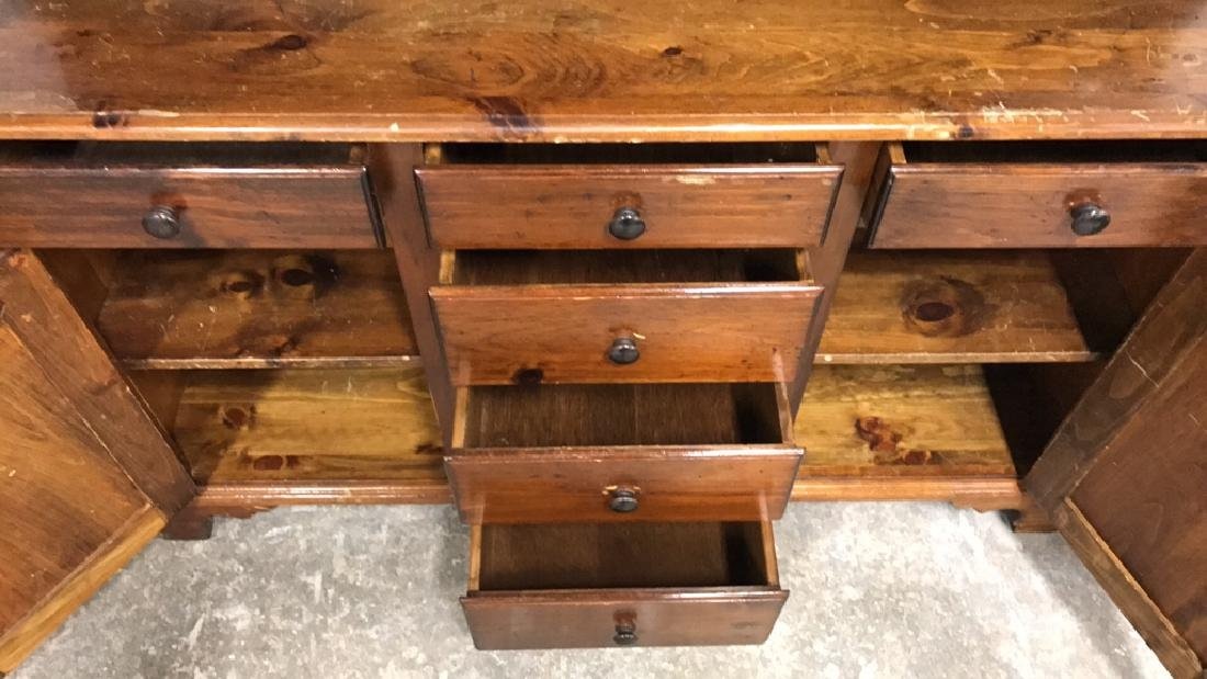 Vintage Style Wood Display Chest - 8