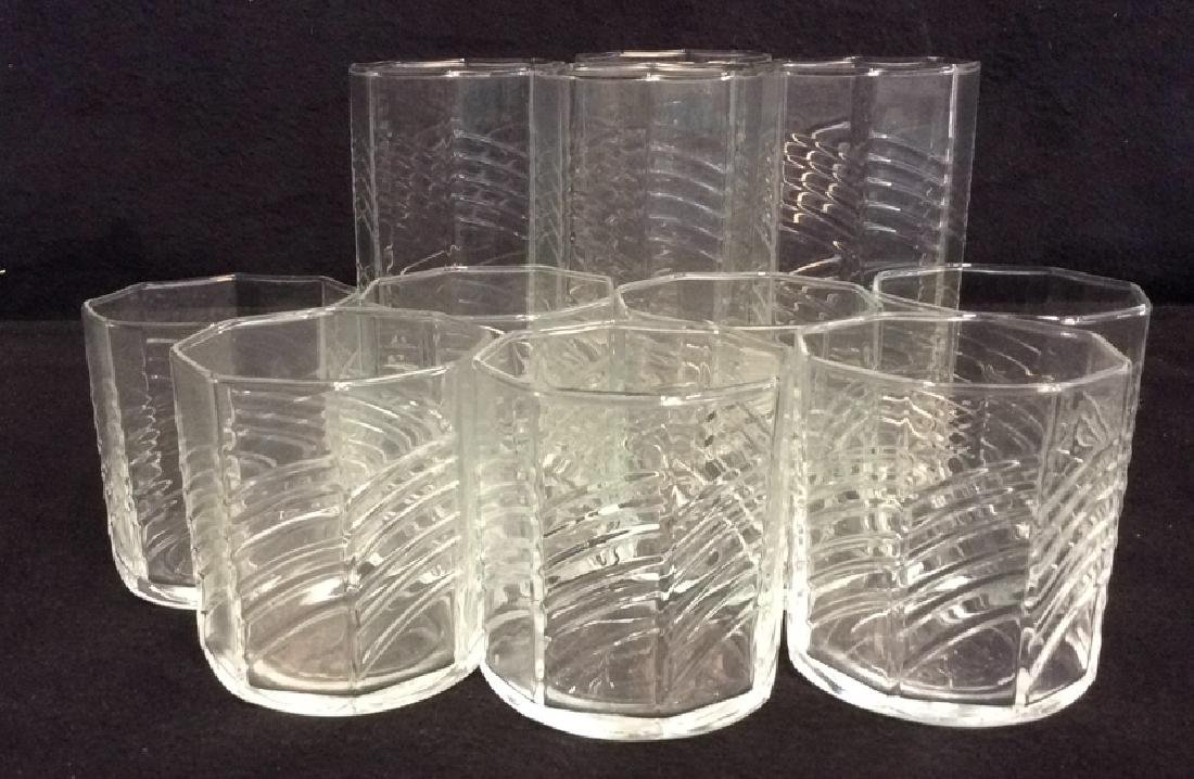 11 Octagon Shaped Drinking Glasses