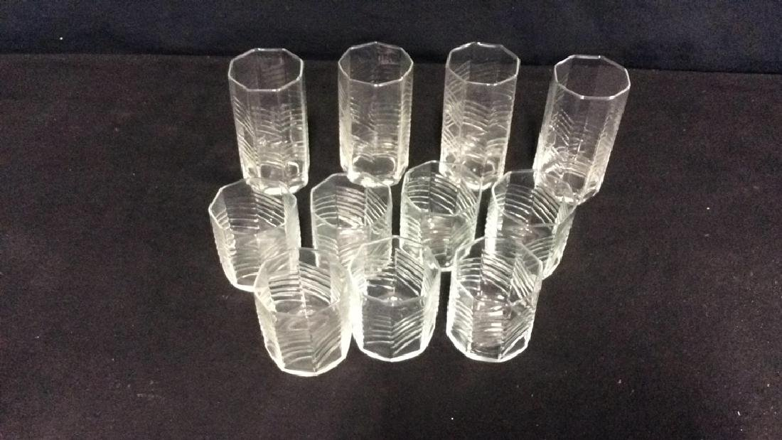 11 Octagon Shaped Drinking Glasses - 2