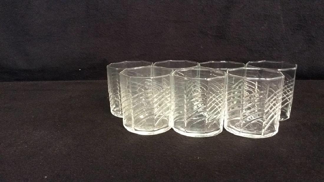 11 Octagon Shaped Drinking Glasses - 7