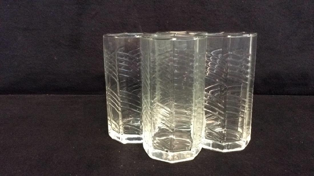 11 Octagon Shaped Drinking Glasses - 8