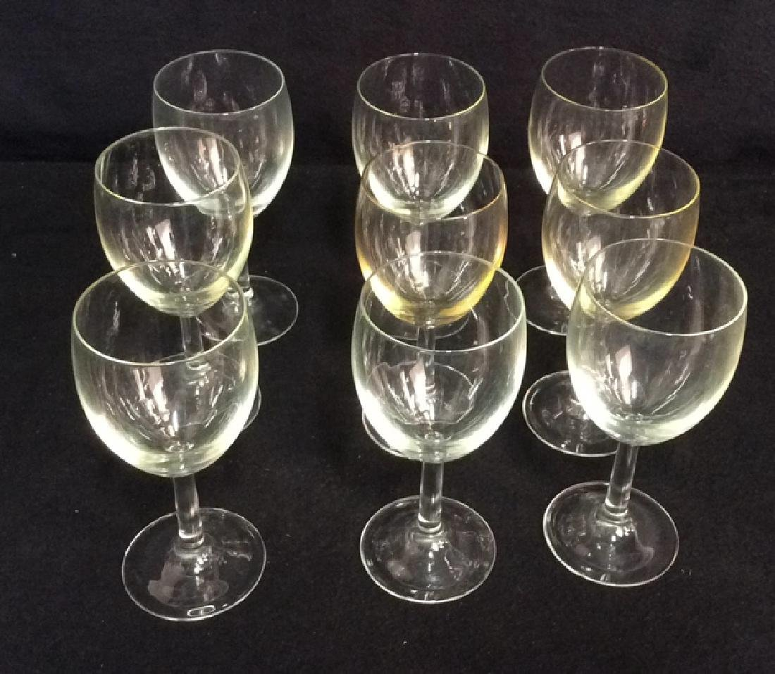 Group Of 9 Wine Glasses