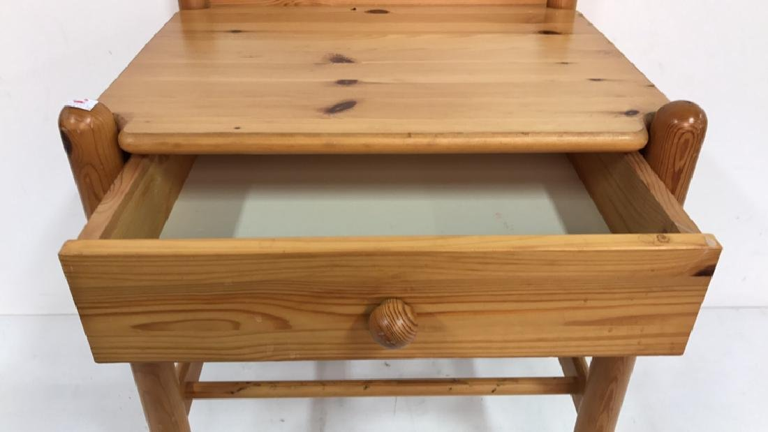 Light Colored Wood Night Table - 3