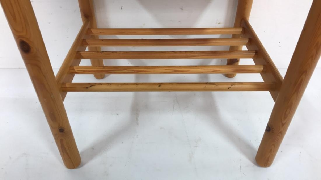 Light Colored Wood Night Table - 4
