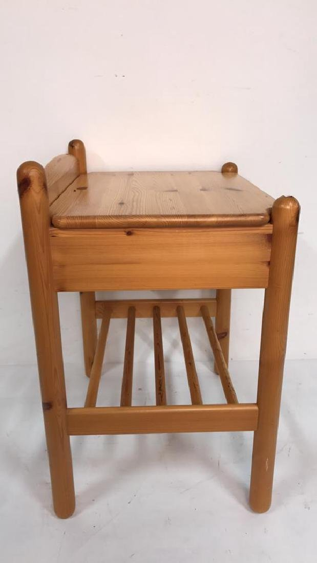 Light Colored Wood Night Table - 5