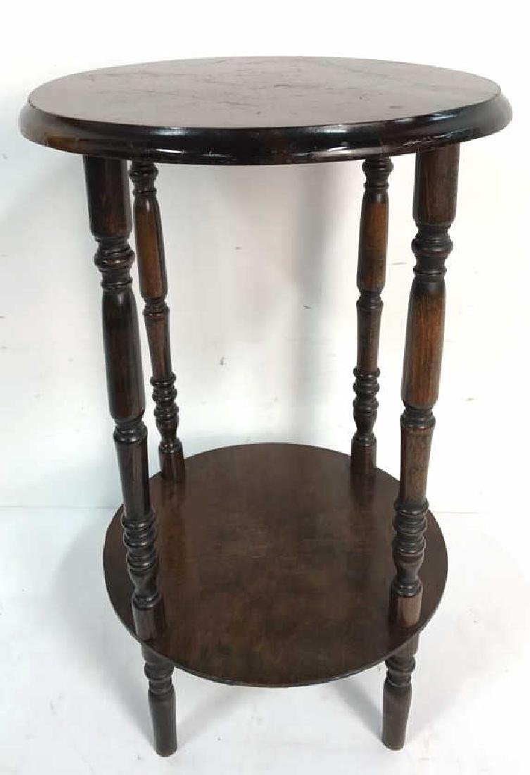 Vintage Style Wood Circular Side Table